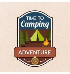 Summer Camping Emblem vector