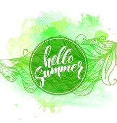 Summer Watercolor Design Summer Typography vector