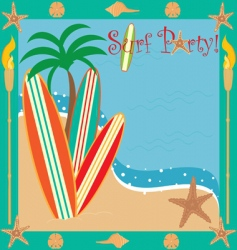 Surf party vector