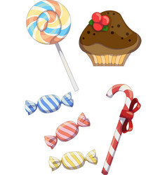 tasty candies vector image