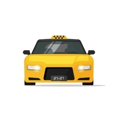 Taxi car isolated luxury front view vector image