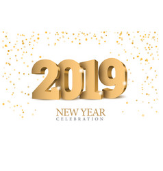 text design 2019 vector image