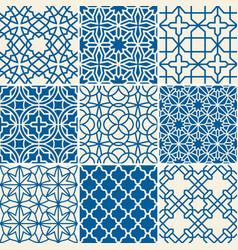 Turkish texture seamless patterns vector