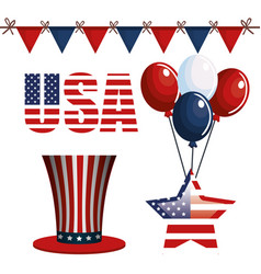 usa related objects vector image