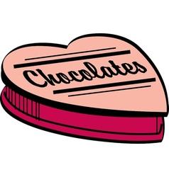 Valentines chocolate box vector image