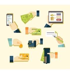 Various methods of payment vector