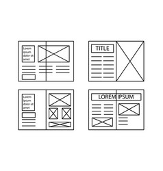 vintage newspaper pages templates for you title vector image