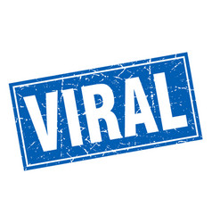 Viral square stamp vector