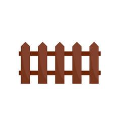 wood fence icon flat style vector image