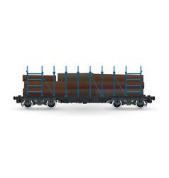 cargo platform for timber transportation vector image vector image