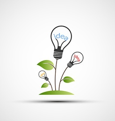 Flowers in the form of incandescent lamps vector image