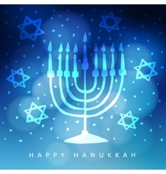 Hanukkah greeting card invitation with hand drawn vector image