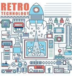 infographics elements concept of Retro Technology vector image vector image