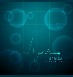 life line heartbeat medical background vector image vector image