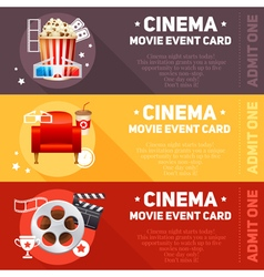 Realistic cinema movie poster vector image