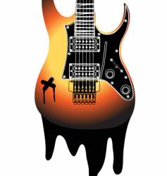urban guitar illustration vector image vector image