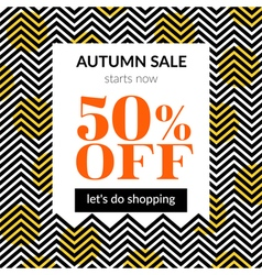Autumn sale background with pattern vector image vector image