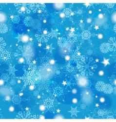 Beautiful blue winter seamless pattern vector image
