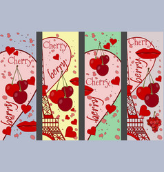 collage from the eiffel tower a cherry vector image