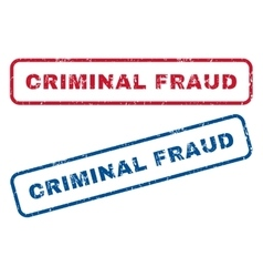Criminal fraud rubber stamps vector