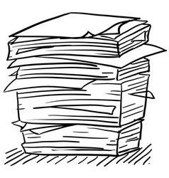 doodle paper stack stress vector image vector image
