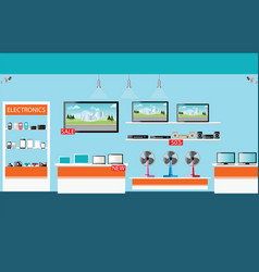 electronics store interior vector image vector image