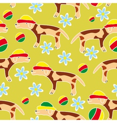 Seamless background with dogs vector image vector image