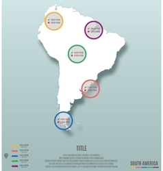 South America Continent Map Infographics vector image vector image
