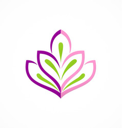 beauty abstract flower plant logo vector image