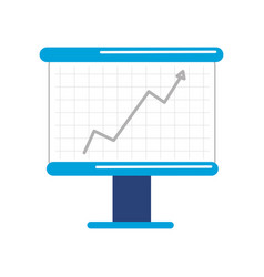 board with statistic arrow up to financial vector image