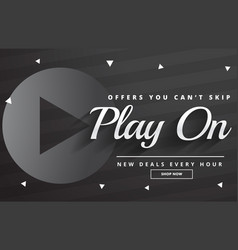 Dark sale banner design with promotional details vector