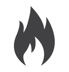 flammable symbol glyph icon logistic vector image vector image