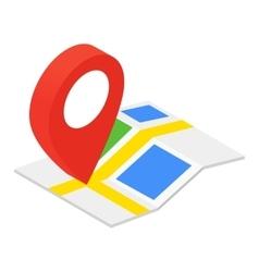 Location isometric 3d icon vector image