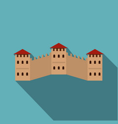 majestic great wall of china icon flat style vector image