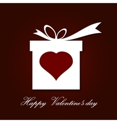 Valentine s day concept with gift box vector image vector image