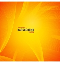 Abstract yellow and orange background vector image
