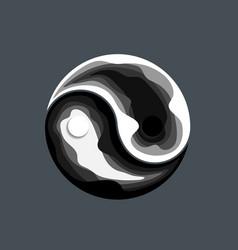 Abstract yin yang symbol design vector