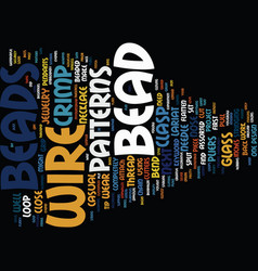 bead shop text background word cloud concept vector image vector image