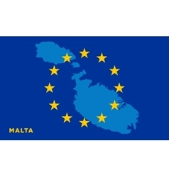 Flag of European Union with Malta on background vector image vector image