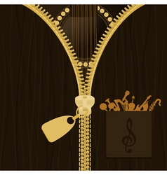 guitar in clothes vector image