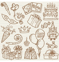 Hand drawn Birthday Celebration vector image