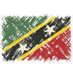 Saint Kitts and Nevis grunge flag vector image