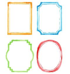 Set watercolor frames vector image vector image