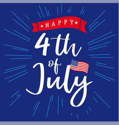 4 happy independence day usa creative banner vector image
