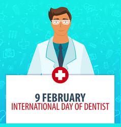 9 february international day of dentist medical vector