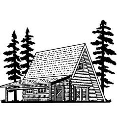 A frame lodge vector