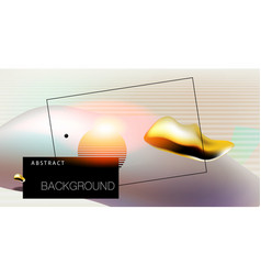 Abstract background with bauhaus futuristic vector