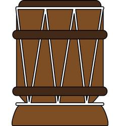 african drum instrument vector image