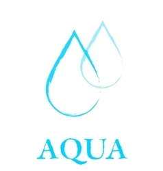 Art water droplet sign vector
