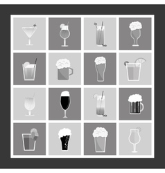 Assorted cocktails and beers image vector